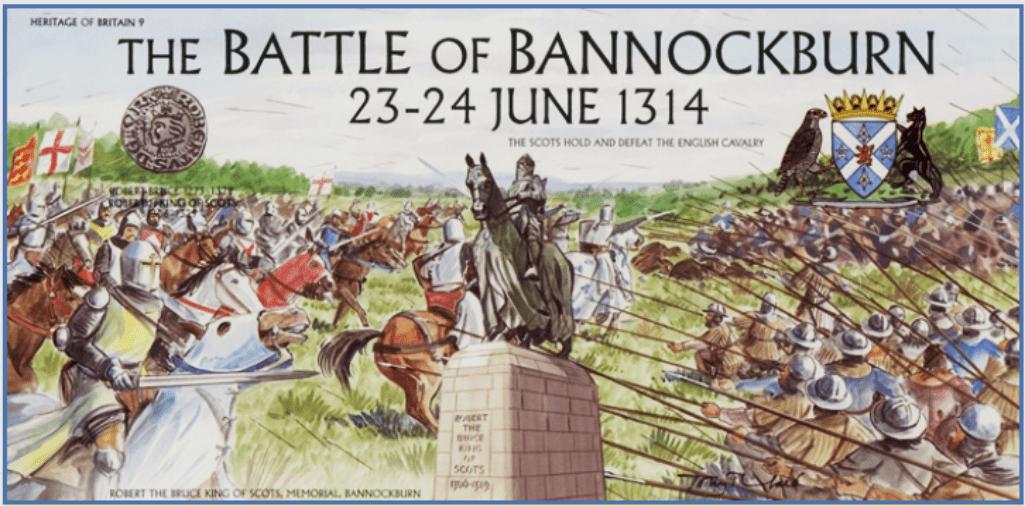 Batalla de Bannockburn 1314 sello conmemorativo