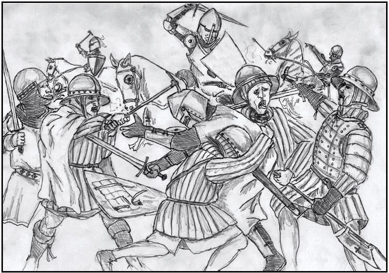 Batalla de Dupplin Moor 1.332. Autor Ryan Ryzzo