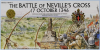 Batalla de Neville's Cross 1346. Sello conmemorativo. Fuente Royal Mail stamp