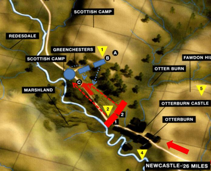 Batalla de Ottenburn 1.388. Disposición de fuerzas