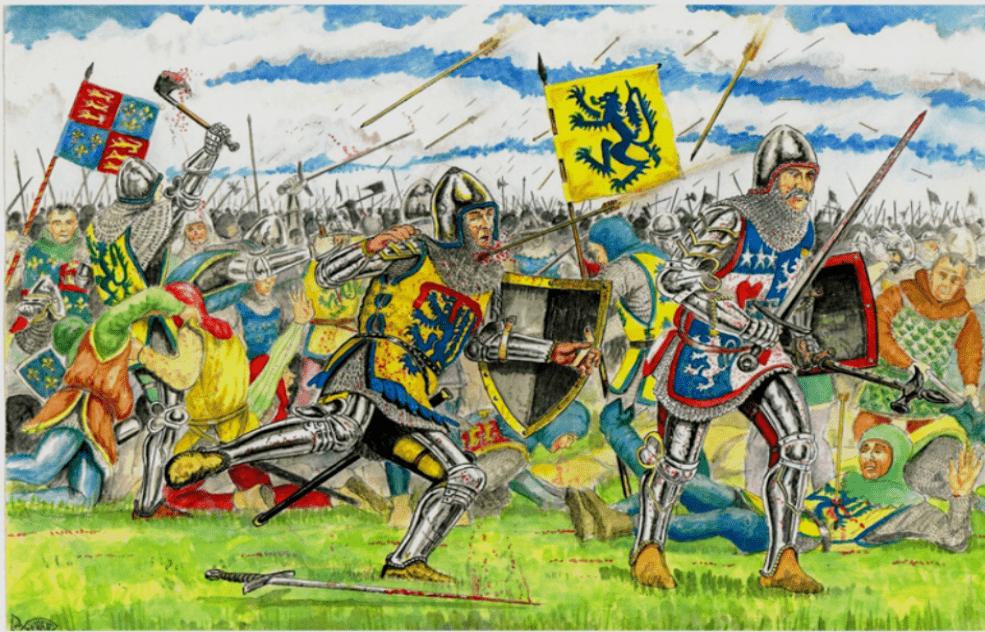 "Batalla de Shrewsbury 1403 Muerte de Hery ""Hotspur"" Persy. Autor Andrew Spratt"