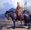 Eduardo III rey de Inglaterra observando a sus tropas