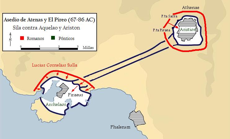 Asedio de Atenas y el Pireo fase final 86 AC
